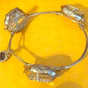 Gold Cross Bracelet with Rhinestones